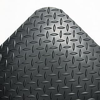 Crown CD0312DB Industrial Deck Plate Anti-Fatigue Mat Vinyl 36 x 144 Black, 36
