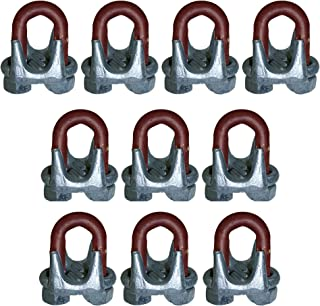10 Pack - 5/8 Drop Forged Wire Rope Clips/Clamps/U-Bolts/Wire Rope Clips/Fencing/Repair