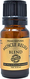 Sponsored Ad - Prime Natural Muscle Relief Essential Oil Blend 10ml - Natural Pure Undiluted Therapeutic Grade for Aromath...