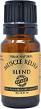 Muscle Relief Essential Oil Blend 10ml - Natural Pure Undiluted Therapeutic Grade for Aromatherapy Massage Scents & Diffuser - Relieves Muscle Pain, Spasms, Stiffness, Backache, Sore Muscle