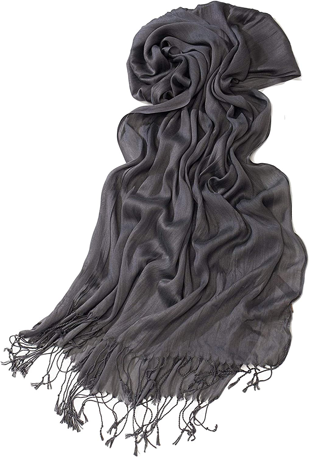 Look By M Women's Solid Scrunch Scarf in Infinity and Oblong