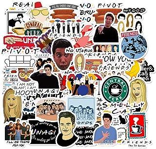 ملصقات البرنامج التلفزيوني للأصدقاء، 50 قطعة، ملصقات الكمبيوتر المحمول من الفينيل ملصق مقاوم للماء الدراجة التزلج الأمتعة ...