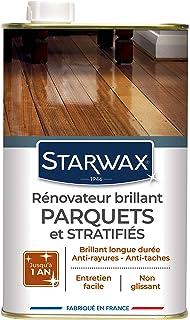 STARWAX Rénovateur Brillant Protecteur pour Parquets et Sols Stratifiés - 1L - Idéal pour Faire Briller et Protéger les Pa...