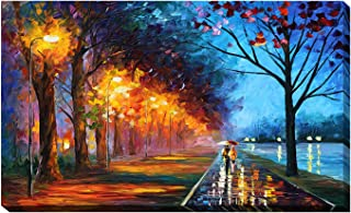 Picture Perfect International Giclee Stretched Wall Art by Leonid Afremov Alley by The Lake Artists-Canvas, 24
