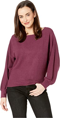 Ribbed Dolman Pullover Top