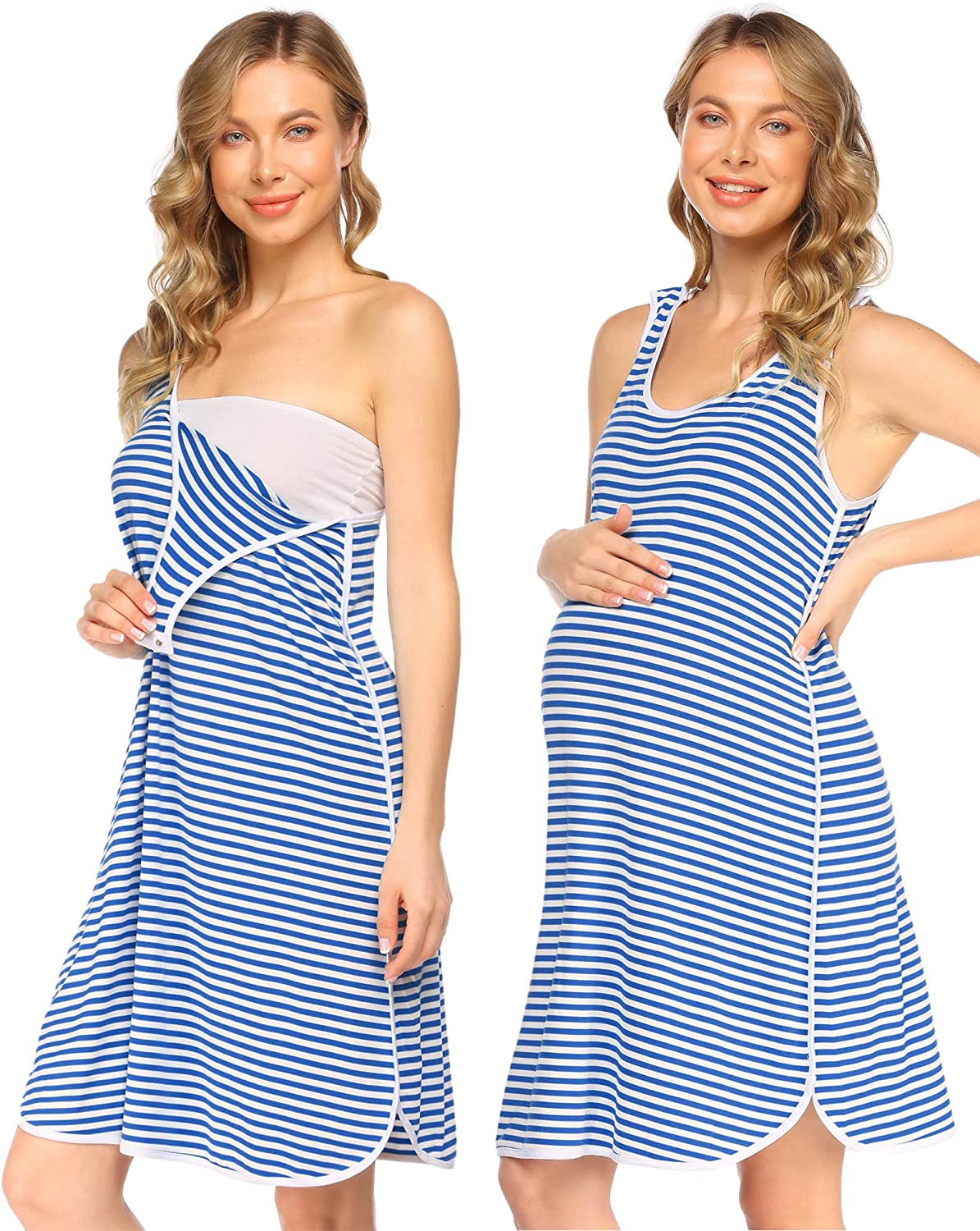 Evanhome Hospital Gown for Free shipping New Labor and Max 72% OFF Sleeveless Nursing Delivery