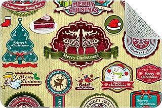 Doormat Custom Indoor Welcome Door Mat, Christmas Elements Santa Claus Home Decorative Entry Rug Garden/Kitchen/Bedroom Ma...