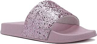 Women's Glitter Rhinestone Slides - Embellished Jewel Slipper Sandal