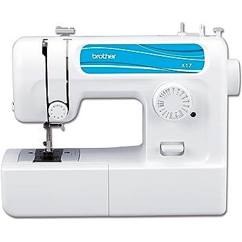 BROTHER x17vm1 X17 Machine à Coudre mécanique, Plastique, Blanc/Bleu, 40 x 14 x 30 cm