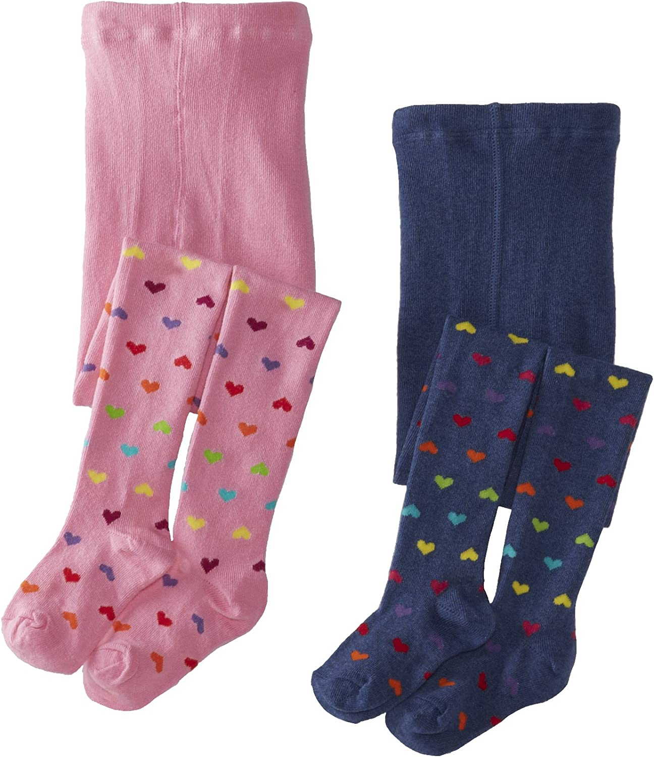 Country Kids Little Girls' Hearts Tights 2 Pair