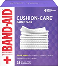 Band-Aid Brand Cushion Care Sterile Gauze Pads for Protection of Minor Cut, Scrapes & Burns, Non-Adhesive & Wound Care Dressing Pads, Small Size, 2 inches x 2 inches, 25 ct ( Pack of 4)