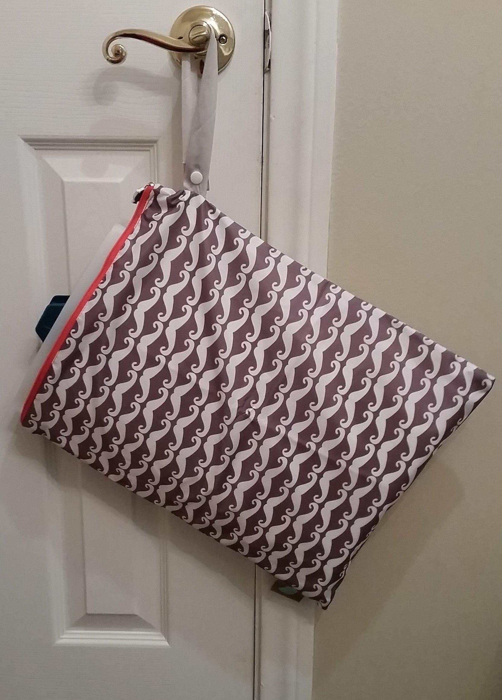 Spray Pal - Cloth Diaper Sprayer Splatter Shield with Storage Wetbag (Mustache)
