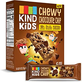 KIND Kids Granola Chewy Bar, Chocolate Chip, 6 Count, Pack of 8