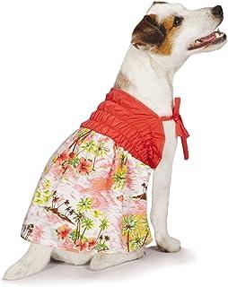 Casual Canine Hawaiian Breeze Sundress, X-Small, Coral