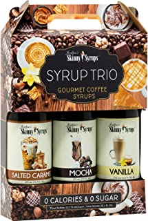 Jordan's Skinny Syrups   Classic Syrup Trio   Healthy Flavors with 0 Calories, 0 Sugar, 0 Carbs   375ml/12.7oz Bottles- Pack of 3