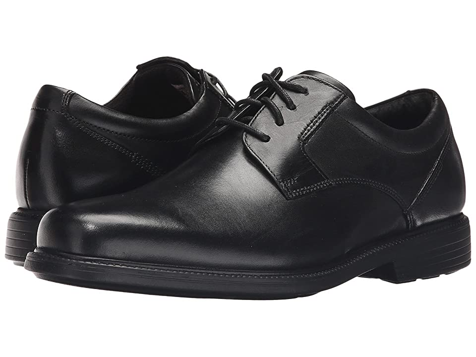 Rockport Charles Road Plain Toe Oxford (Black Leather) Men