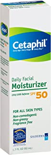 Cetaphil Daily Facial Moisturizer with sunscreen SPF 50+, 1.7 oz