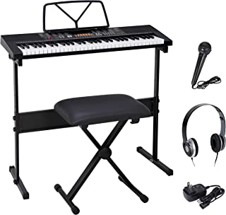 Smartxchoices 61-Key Portable Electronic Keyboard Piano LCD