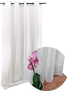 8c2e3341 ForenTex Cortinas Habitación Confección 145x260cm Visillos con ojetes para  Las Ventanas Puertas de salón y Dormitorio