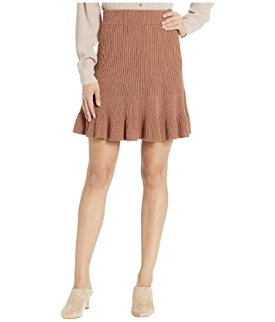 Free People Solid Gold Skirt (Brown) Women