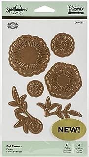 Spellbinders GLP-037 Flowers by Becca Feeken Glimmer Hot Foil Plate, Metal