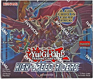 YU-GI-OH! Yugioh High Speed Riders 1st Edition TCG English Booster Box! 24 Packs of 9 Cards, 1 FOIL Holo Card PER Pack!!