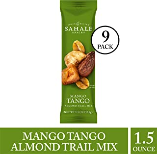 Sahale Snacks Mango Tango Almond Mix, 1.5 oz., Pack of 9 – Nut Snacks in a Grab 'n Go Pouch, No Artificial Flavors, Preservatives or Colors, Gluten-Free Snacks