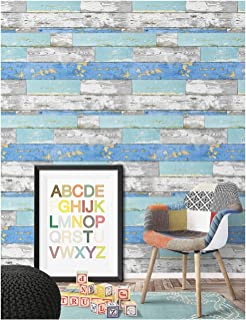 HaokHome 92054 Peel and Stick Wood Plank Wallpaper 17.7