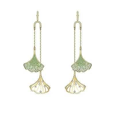 Swarovski Stunning Ginko Mobile Pierced Earrings (Dark Multi) Earring