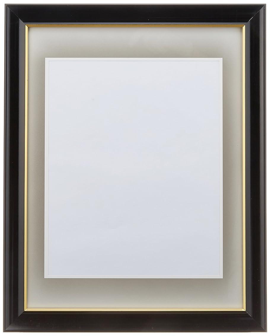 準備する放射能次ナカバヤシ 肖像額(葬儀用写真額縁) 黒線入(ハ○) フ-SS-20 326465