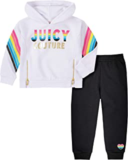 Juicy Couture Girls' 2 Pieces Pants Set with Hoody