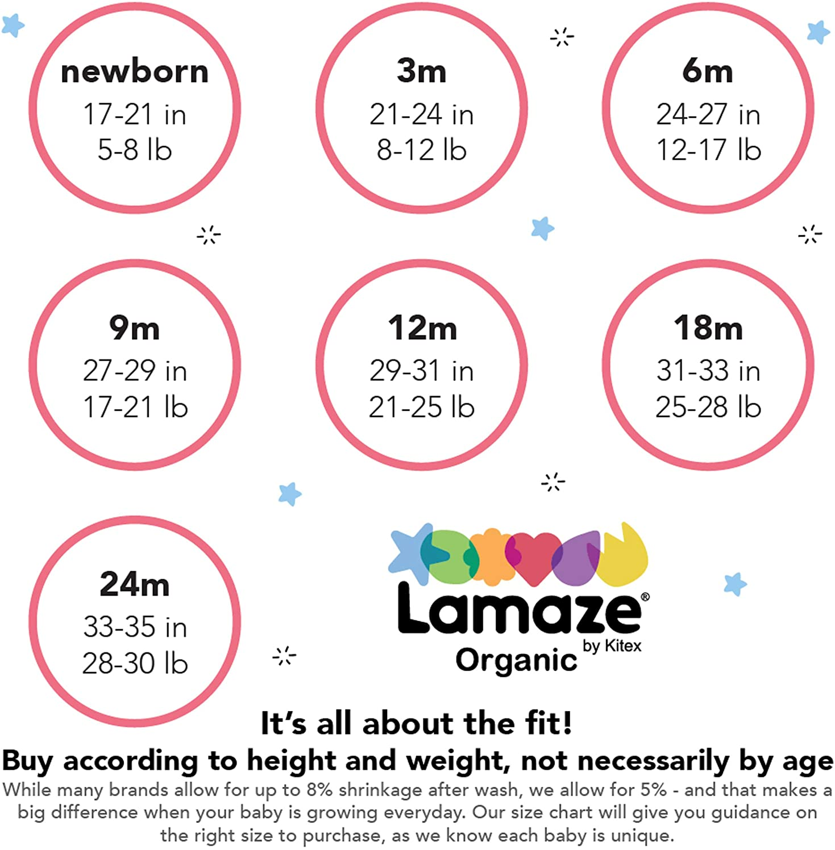 Lamaze Organic Baby Baby Girls Pull on Peplum Ruffle 2 Pack Leggings