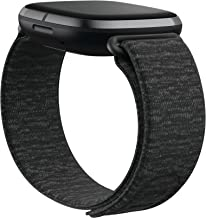 Fitbit Sense and Fitbit Versa 3 Accessory Band, Official Fitbit Product, Hook & Loop, Charcoal, Small