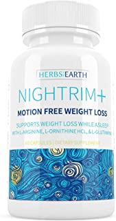 Nightrim+ Nighttime Weightl-loss Supplement, Burn Fat, Belly Fat, Lose Weight while asleep, PM Fat Burner, Sleep Aid l-arg...