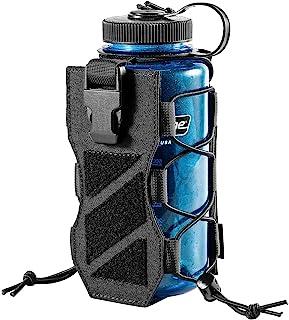 OneTigris ボトルホルスター 06 ホルダー レーザーカット モール 折りたたみ式 オールサイズ (ブラック)