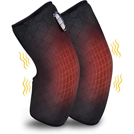 Comfier Heated Knee Brace Wrap with Massage,Vibration Knee Massager with Heating Pad for Knee Fatigue, Leg Massager, Heated Knee Pad for Stress Relief