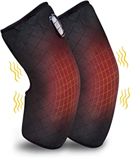 Comfer Heated Knee Brace Wrap with Massage,Vibration Knee Massager with Heating Pad for Knee Pain,Leg Massager,Heated Knee...