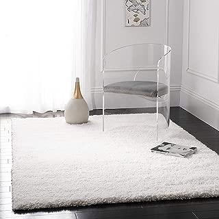 Safavieh California Premium Shag Collection SG151-1010 White Area Rug (5'3