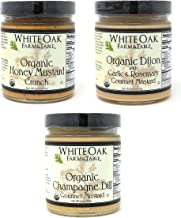 White Oak Farm & Table Mustard - Variety Pack, 3-Pack - 9 oz. Jars