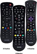 Philips Universal Remote Control for Samsung, Vizio, LG, Sony, Sharp, Roku, Apple TV, RCA, Panasonic, Smart TVs, Streaming Players, Blu-ray, DVD, Simple Setup, 6-Device, Black, SRP9263C/27