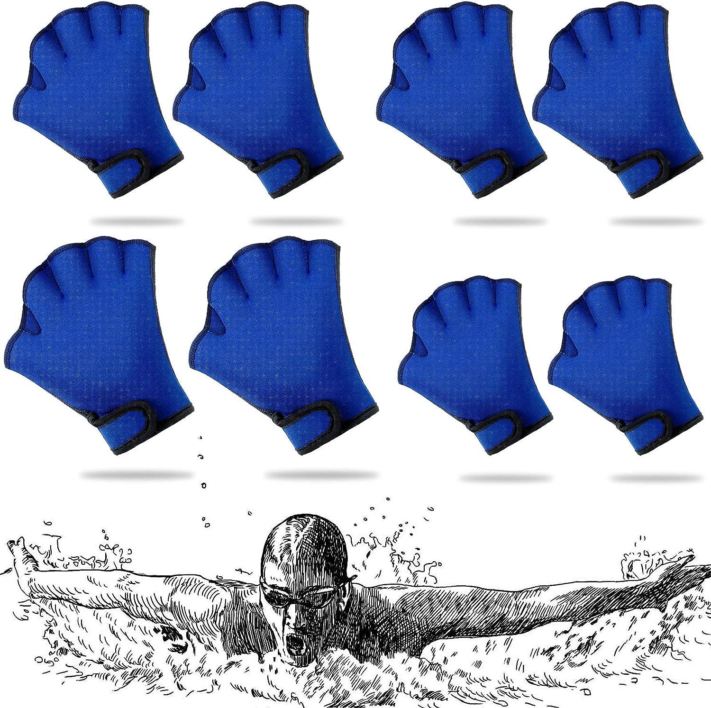 4 Pairs Aquatic Gloves 3 Size Swim Training 35% OFF Water Re Arlington Mall Blue