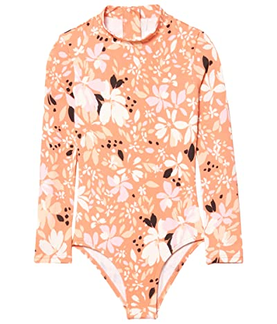 Billabong Kids Petal Party Bodysuit (Little Kids/Big Kids) (Coral Reef) Girl