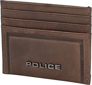 Police Metal Ltr Card Case Brown, BROWN