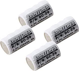 Battery Combo-Pack Compatible with Pet Stop Invisible Fence 700 10K Dog Collar Includes: 4 x DC-29 Batteries