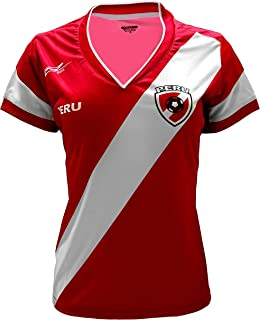 Arza Sports Peru Women Soccer Jersey Color Red 100% Polyester