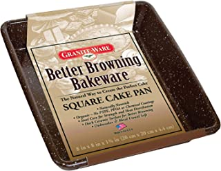 Granite Ware Better Browning Square Cake Pan, 8-inch by 8-inch