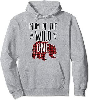 Mum of the Wild One Buffalo Plaid Lumberjack 1st Birthday Pullover Hoodie