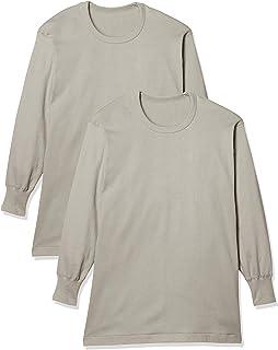 [グンゼ] インナーシャツ あったかソフト スムース クルーネック長袖 2枚組 RP55082 メンズ