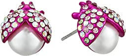 Betsey Johnson - Pink Beetle Stud Earrings