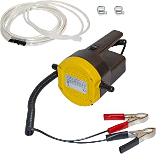 ALEKO BST1017B 12V 8A 100W DC Motor Fuel Oil Diesel Extractor Scavenge Suction Transfer Pump with Hose and Handle and ON/OFF Switch